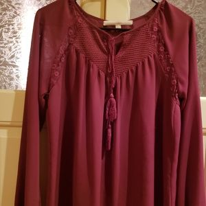 Guess Peasant Style Blouse